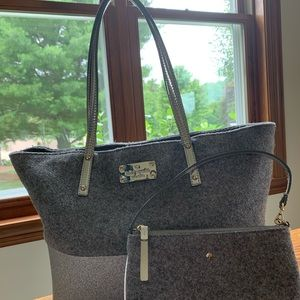 Kate Spade Frosted Harmony Felted Tote Bag